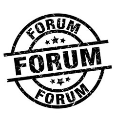 Forum round grunge black stamp vector