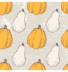 Hand drawn halloween seamless pattern with white vector