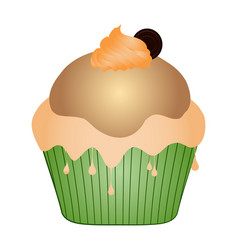 isolated cupcake vector image vector image