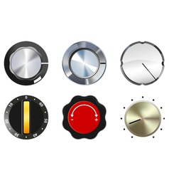 Knobs set 1 vector