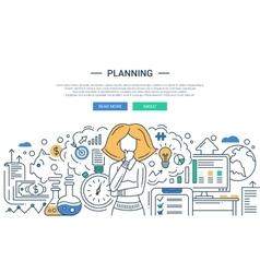 modern line flat design planning vector image
