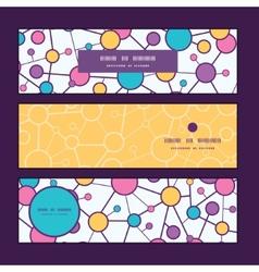 Molecular structure horizontal banners set pattern vector