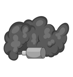 Molotov cocktail icon monochrome vector