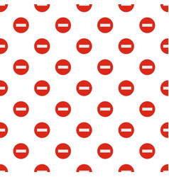 no entry pattern seamless vector image vector image