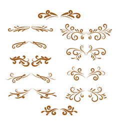 Page dividers set decorative elements vector