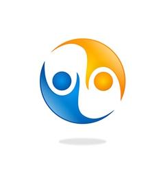 people help partner icon logo vector image vector image
