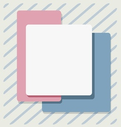 Post-style card vector