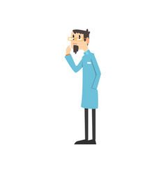 scientist doctor engineer or astrophysicist vector image