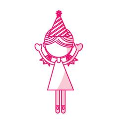 Shadow party girl cartoon vector