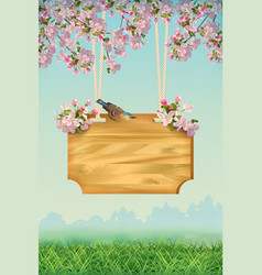 Spring poster template vector