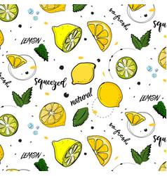trendy summer decoration lemon fruit vector image vector image