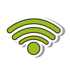 Wifi signal service isolated icon vector