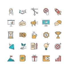 start up icons vector image