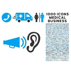 Listen sound icon with 1000 medical business vector