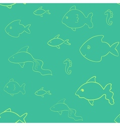 Laconic fish seamless vector image
