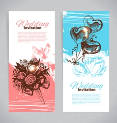 Wedding invitations vector