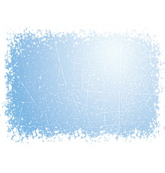 Grunge snow border vector
