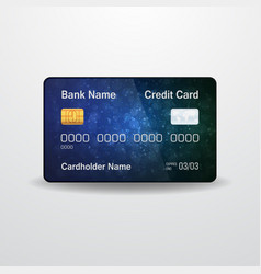 Detailed realistic credit card front side money vector