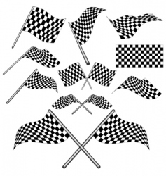 Set of checkered flag vector vector