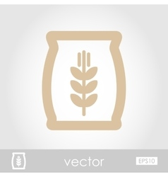 Sack of grain icon vector