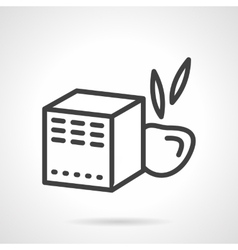 Baby food box black line icon vector