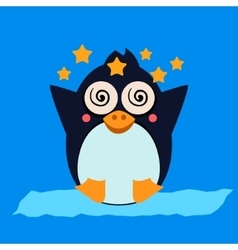 Penguin feeling dizzy vector