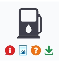 Petrol or gas station icon car fuel sign vector