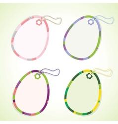 Egg-shaped tags vector