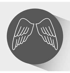 Angels wings design vector