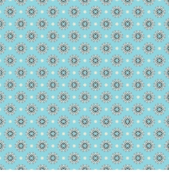 Blue white seamless pattern oriental style vector