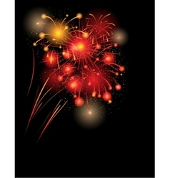 Red firework background vector