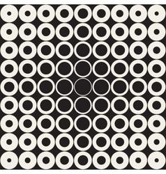Seamless grid of circles retro pattern vector