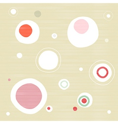 Abstract Retro Textile Circle Background vector image vector image