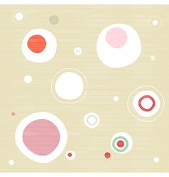 Abstract retro textile circle background vector