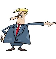 angry boss firing somebody vector image