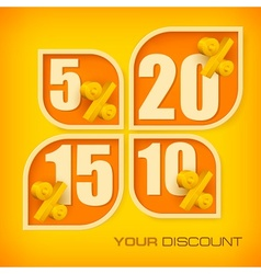 Banners with discount vector image vector image