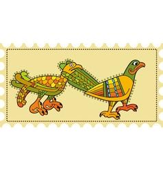 Birds Postage vector image