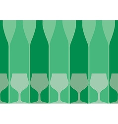 Bottles background green vector