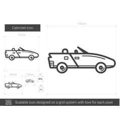 Cabriolet line icon vector