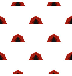 Camping tent pattern flat vector
