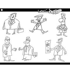 Cartoon businessmen set vector