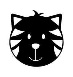 Cat head mascot isolated icon vector