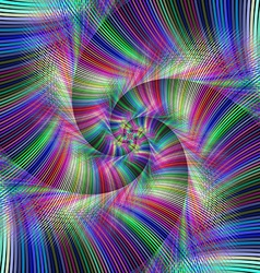 Colorful psychedelic spiral fractal background vector