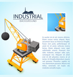 Construction machinery industrial background vector