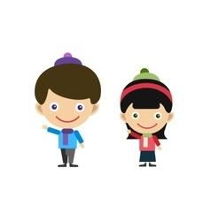 Cute cartoon boy and girl vector