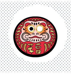 daruma japanese traditional doll vector image