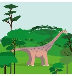 dinosaur concept design vector image vector image