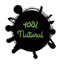 Eco Natural Lettering vector image vector image