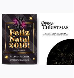 Feliz natal 2018 merry christmas in portuguese vector