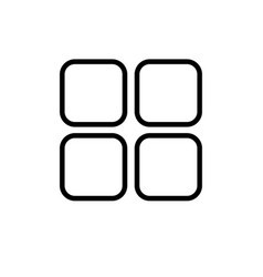 grid squares icon vector image
